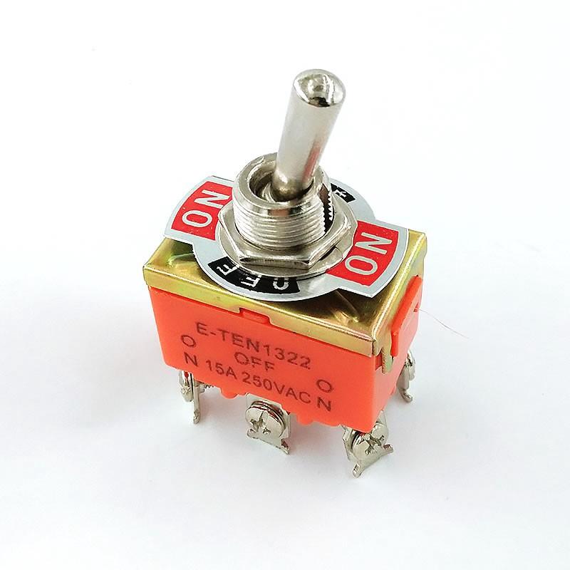 30Pcs Mini Red Self-Lock ON//OFF lock Push Button Switch