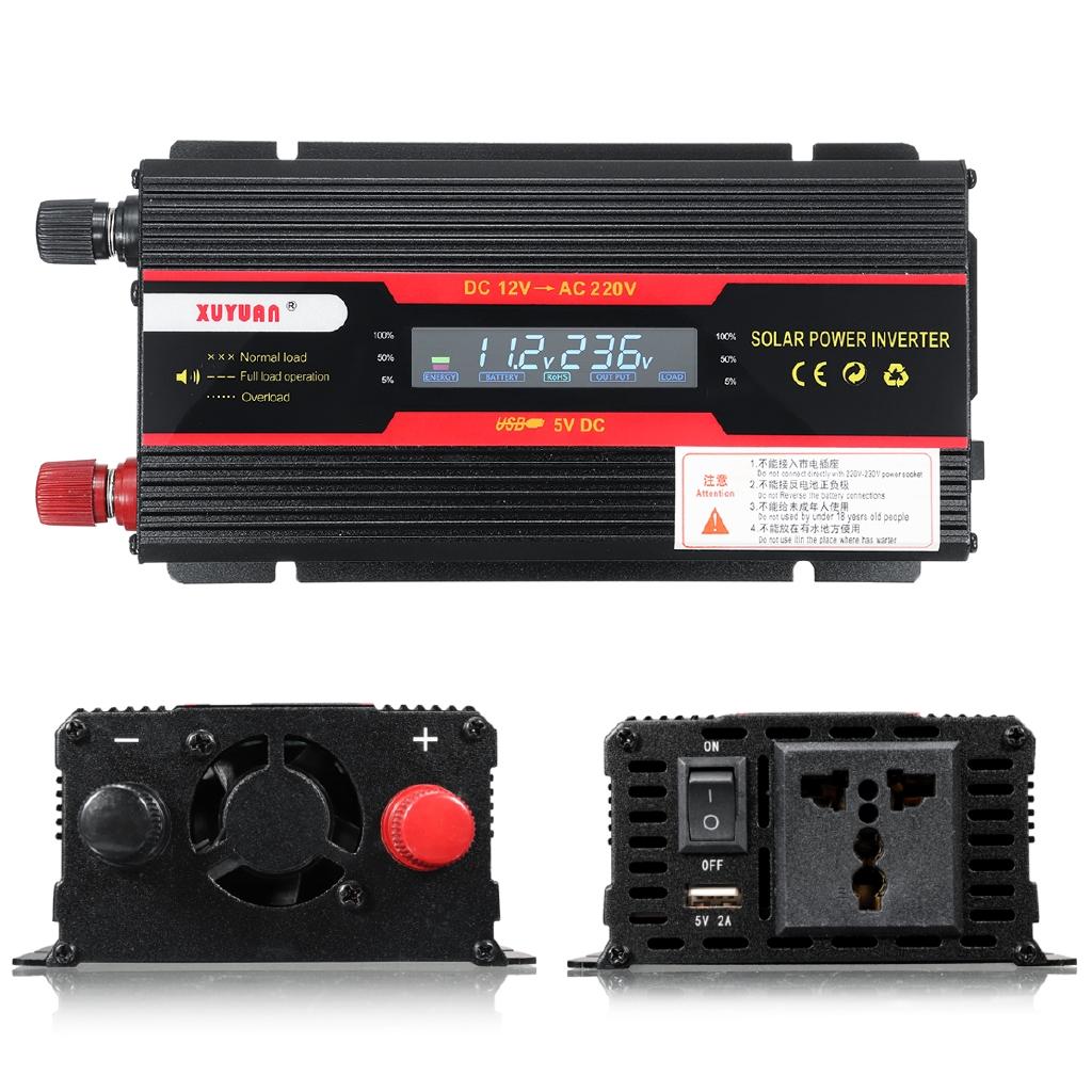 600W//1000W//2000W Car LED Power Inverter Converter DC 12V To AC 110V Electronic