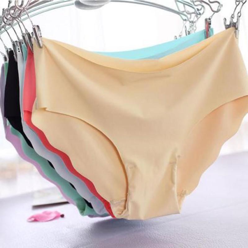 Women Ice Silk Underpants Seamless Underwear Lingerie Briefs Hipster Cozy Pantie