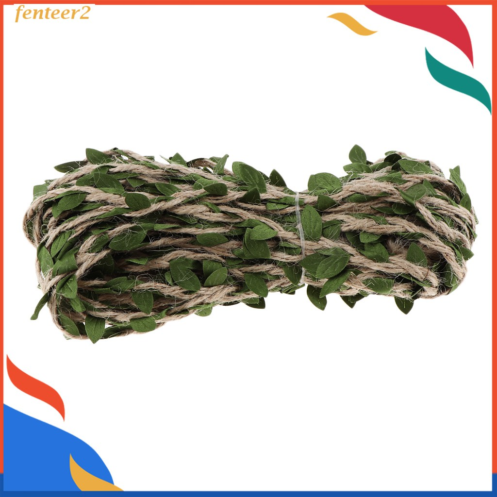 10m X 5mm Leaf Garland Wall Hanging Artificial Burlap Vine Plants Greenery For Wedding Home Jungle Garden Party Shopee Brasil