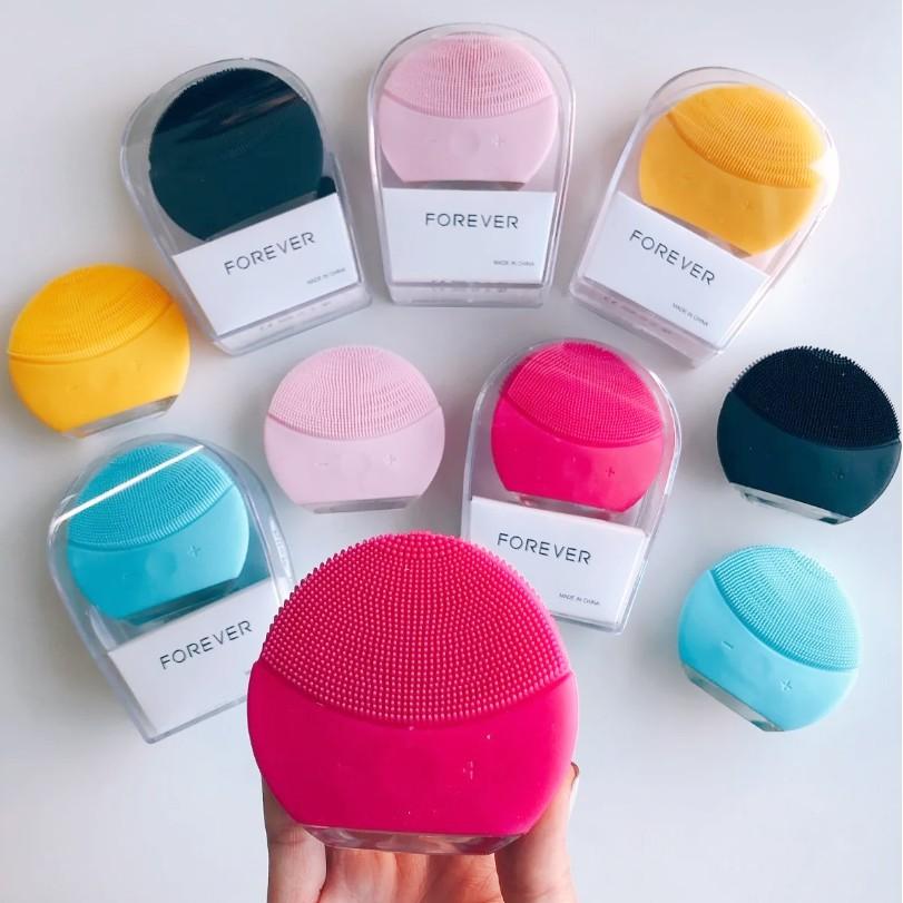 Com Esponja Elétrica Massageador Forever Limpeza Facial   Que Elimina Em 99,5% Da Oleosidade Do Rosto!  Shopee Brasil