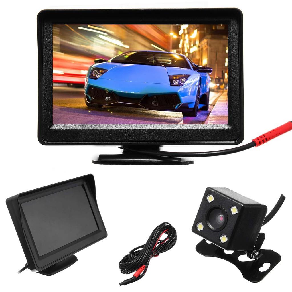 """4.3/"""" TFT LCD Monitor Car Rear View System Backup Reverse Camera Night Vision Kit"""