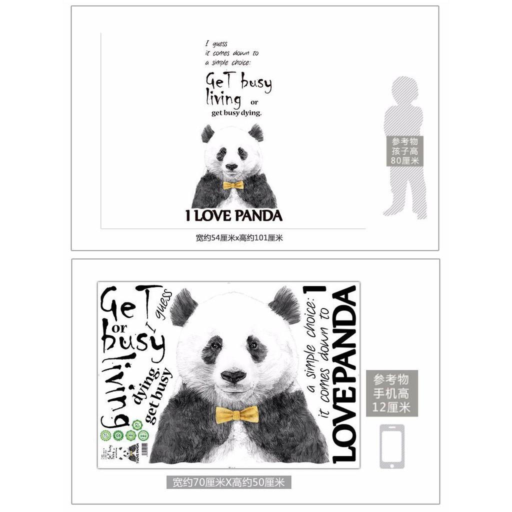 Adesivo De Parede Hiasan Rumah Panda Hitam Dan Putih Yang Comel Kartun Pelekat Shopee Brasil