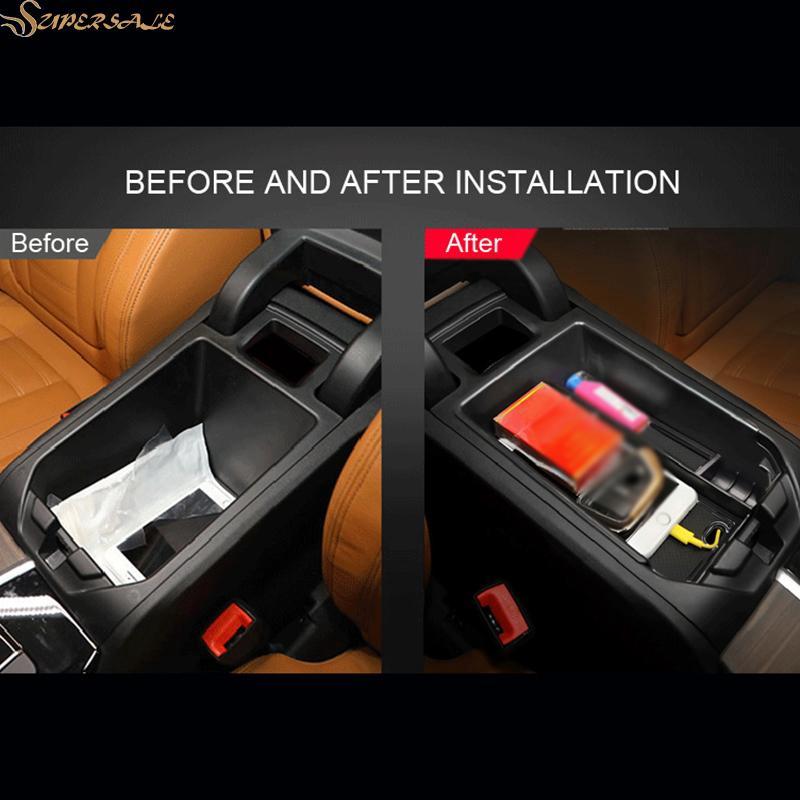 Center Central Console Armrest Storage Box Organizer Tray For BMW X3 G01 2018