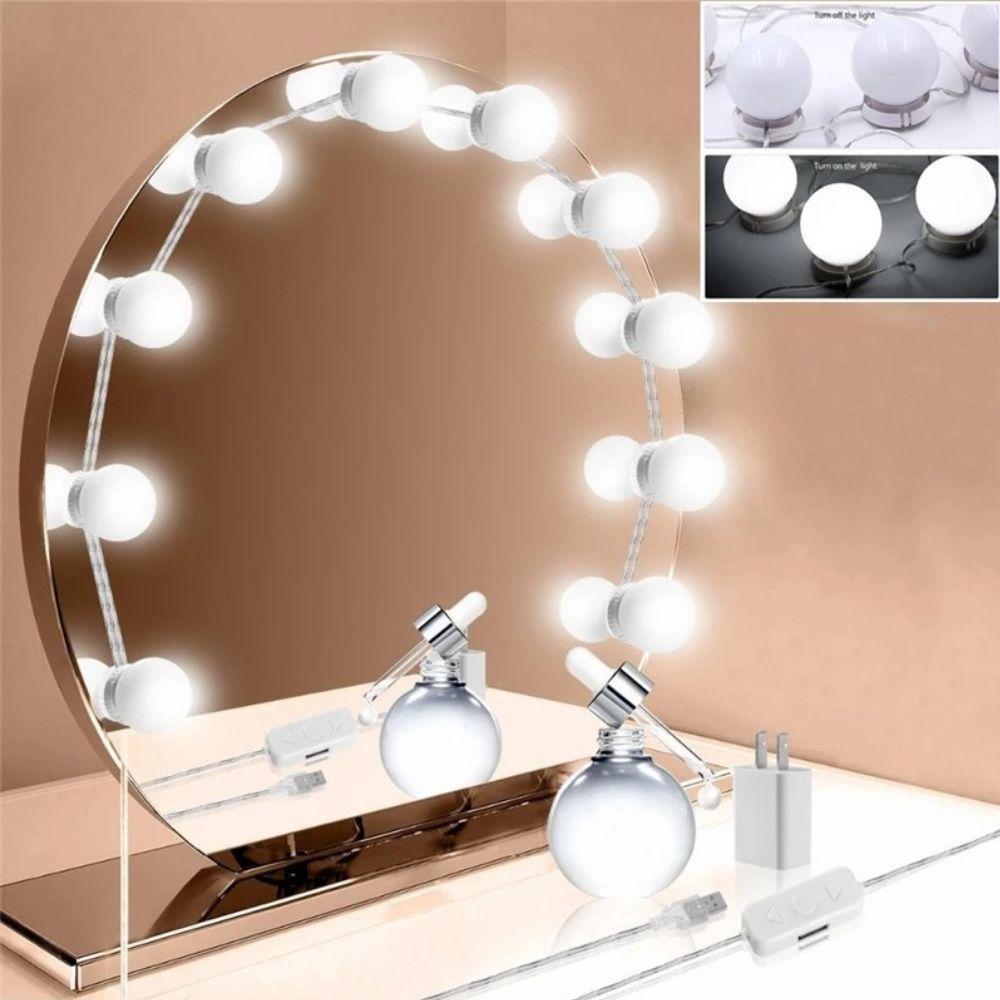 Luz De Espelho Camarim Maquiagem Led 10 Lampadas Envio Imediato Produto Mais Vendido Shopee Brasil