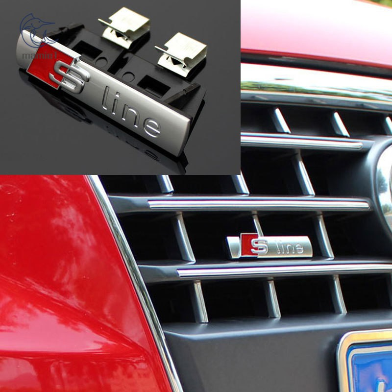 NEW BLACK AUDI S5 Grill BADGE 3D ABS SLINE Front Racing Grill Grille Emblem