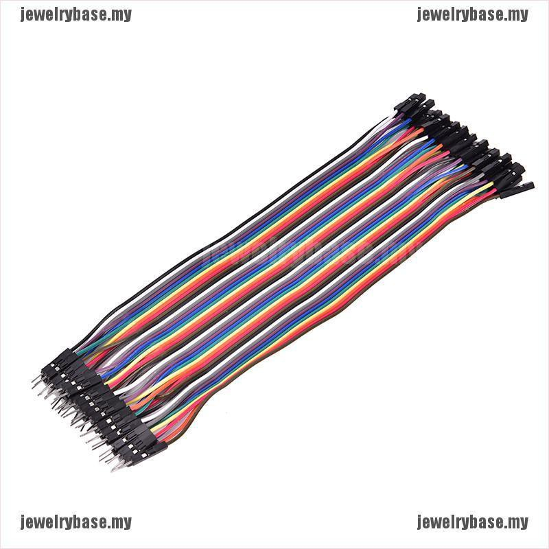 40PCS Dupont wire jumpercables 20cm 2.54MM male to female 1P-1P For Arduino