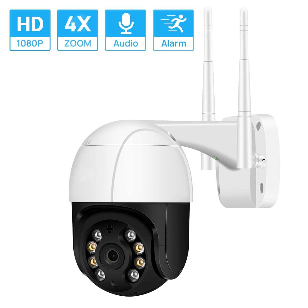 Hamrol 1080 P Câmera IP PTZ Sem Fio 4X Zoom Digital Speed Dome Câmera WIFI  de Áudio Câmera de Vigilância Ao Ar Livre P2P | Shopee Brasil