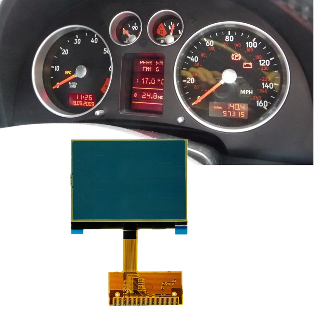 Display Screen for Audi A3//S3 8L Series Jaeger Instrument Cluster Dashboard