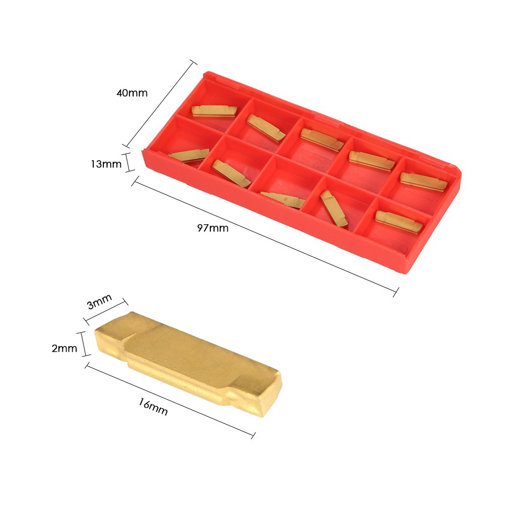 10Pcs Mgmn200-G 2Mm Carbide Inserts For Mgehr//Mgivr Grooving
