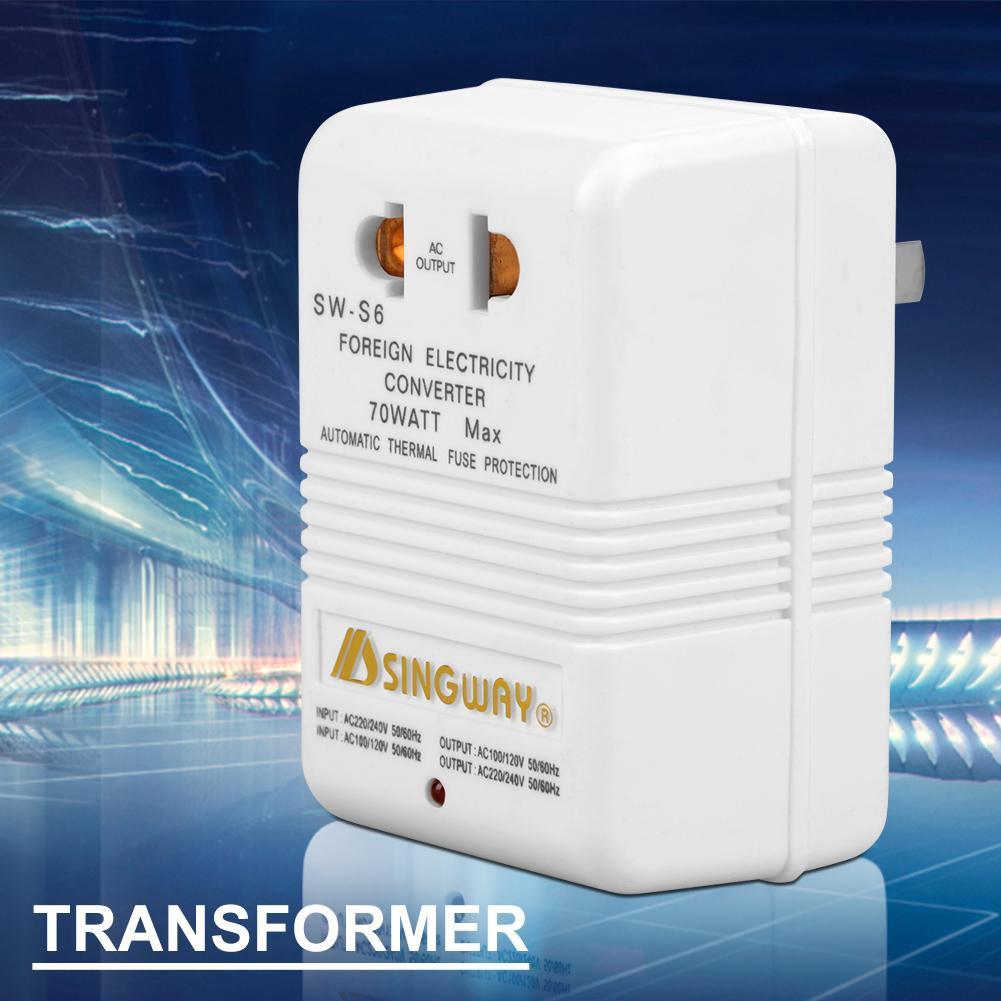 CN Standard Plug) 70W 110V//120V to 220V//240V Step up//Down Travel Adapter Voltage Converter Transformer