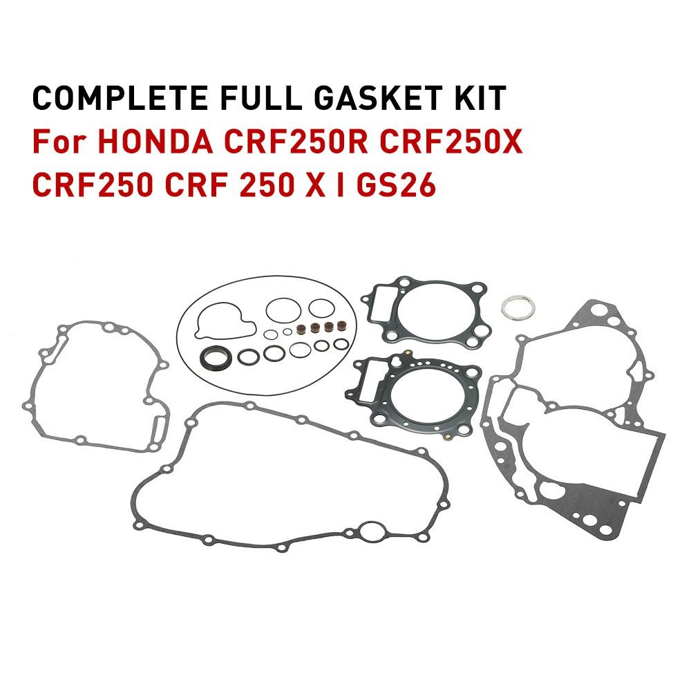Engine Complete Full Gasket Set for Honda CRF250R CRF250X CRF250