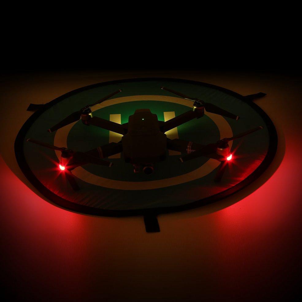 Fast-Fold Landing Pad Noctilucentes Avental De Estacionamento Para DJI Mavic Spark Drone 55cm