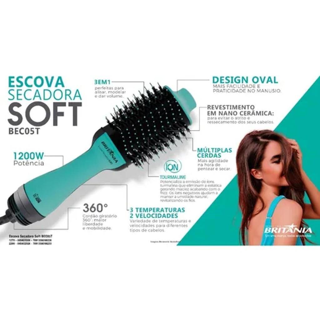 Escova Secadora Soft Britania Bec05T 127v   Shopee Brasil