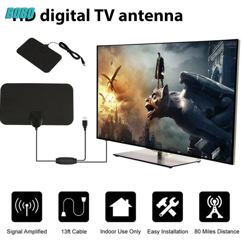 4K READY TV HD Antenna HDTV Digital Channels With 13ft Cable