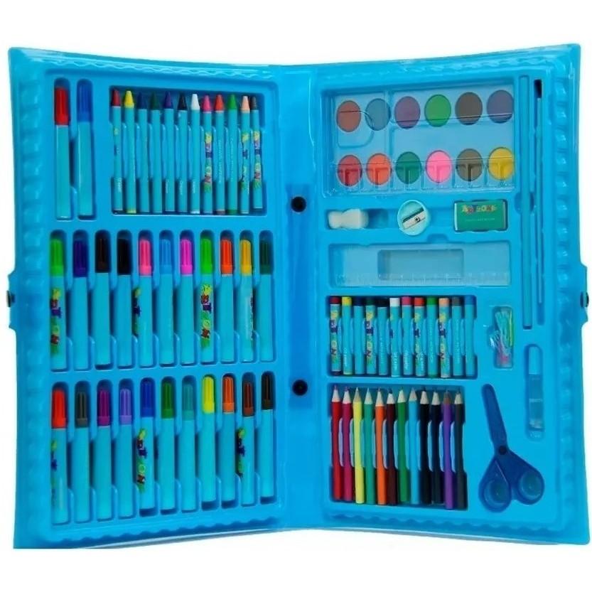 Brinquedo Dia Das Crianças Estojo Maleta Pintura Infantil Canetinhas Giz Lápis!