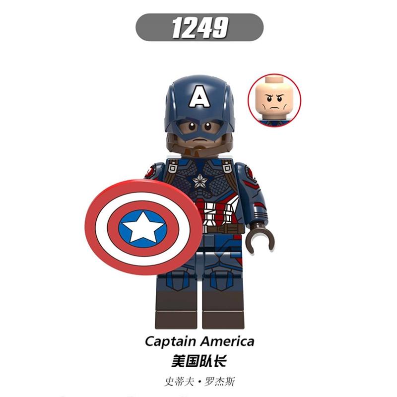 Bloco de construção Mini Figuras Marvel Vingadores Capitão Marvel Compatível Com Marcas