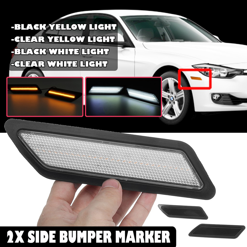 Automotivo Para 13 15 Bmw F30 F31 3 Series Base De Led Frontal Lateral Bumper Marcador Refletor Luz Shopee Brasil