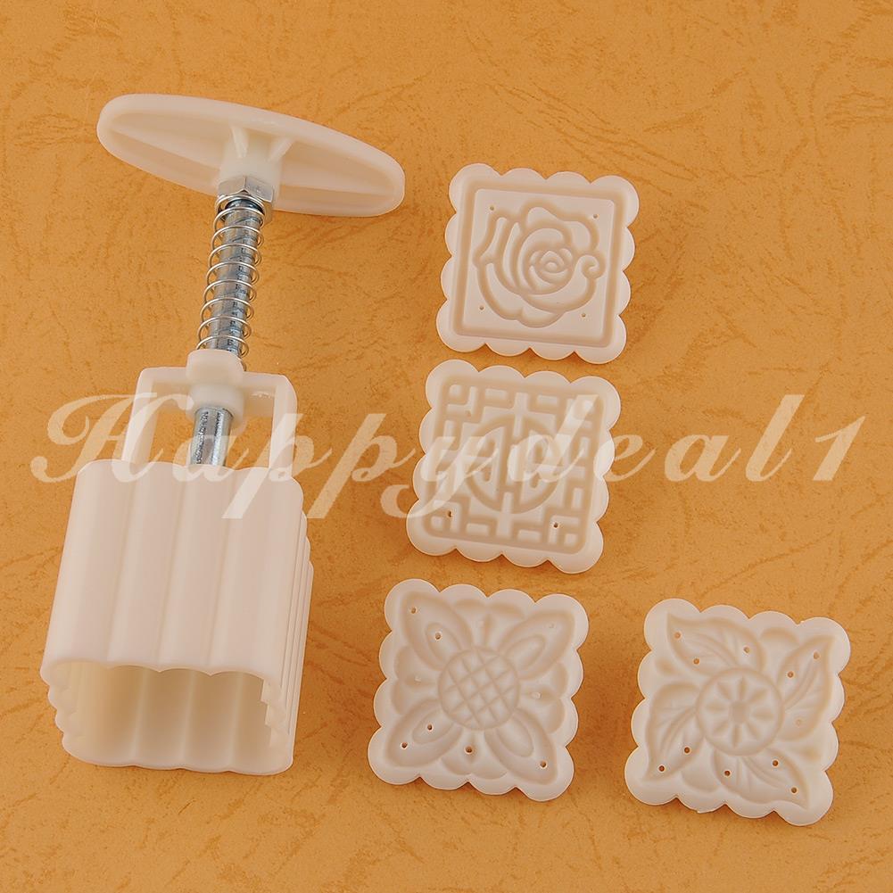 Faça você mesmo Tapete de haste Flor Plástico molde molde Bolo Fondant Decoração De Cozinha ferramenta Nova P