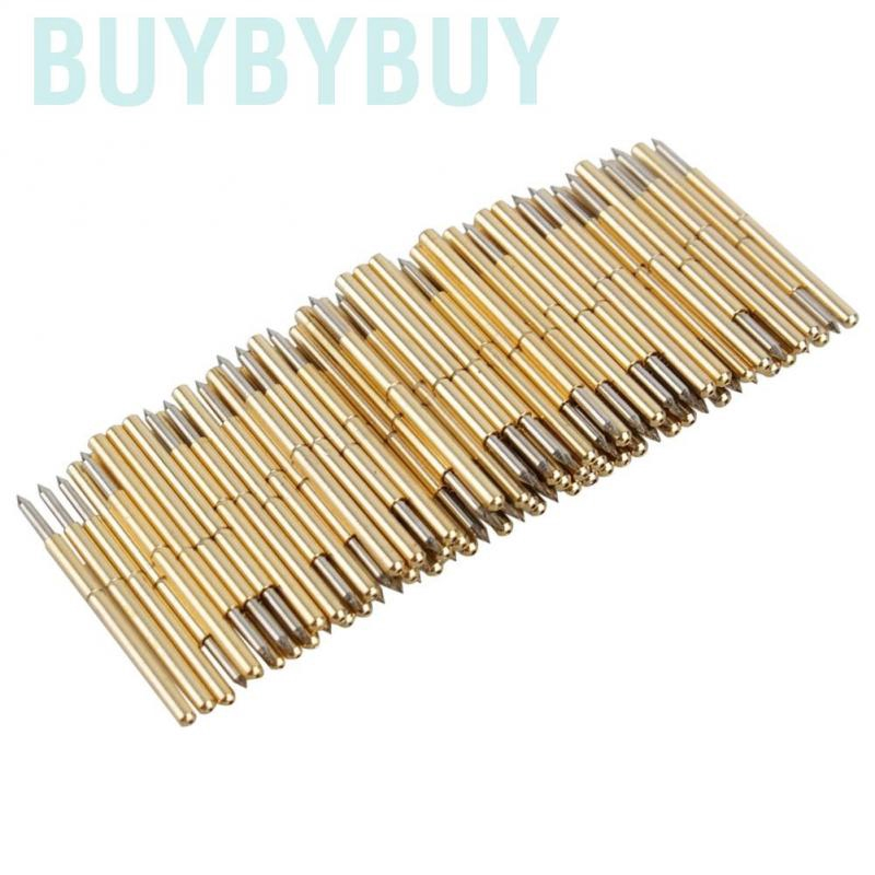 100 pcs Spring Test Probe Pogo Pin Receptacle For Testing PCB Gold and Pads