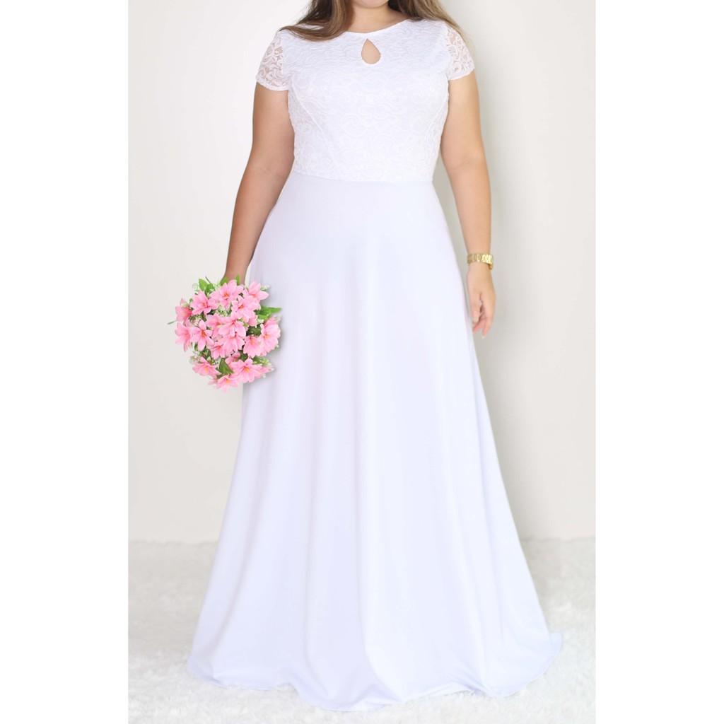 Vestido Noiva Plus Size 073 | Shopee Brasil