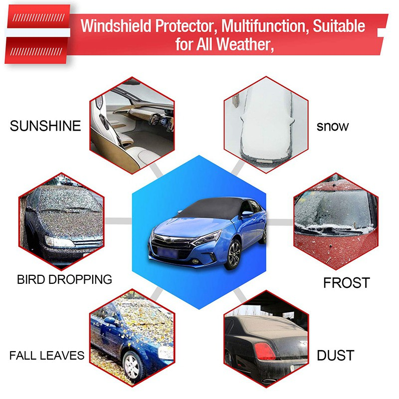 13-ON For MAZDA 6 CAR WINDSCREEN FROST COVER ICE SNOW DUST PROTECTOR