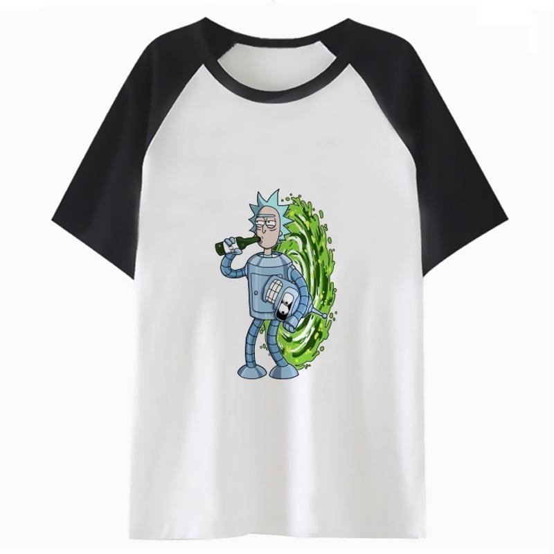 Rick E Morty Camiseta Dos Desenhos Animados Kawaii Tops Feminino
