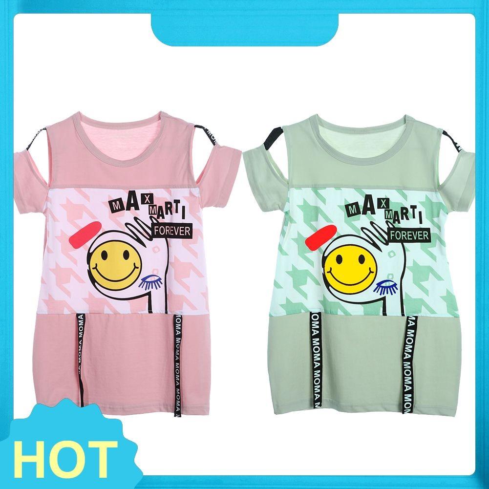 Diydegss Novas Criancas Meninas Sorrindo Rosto Imprimir T Shirt De