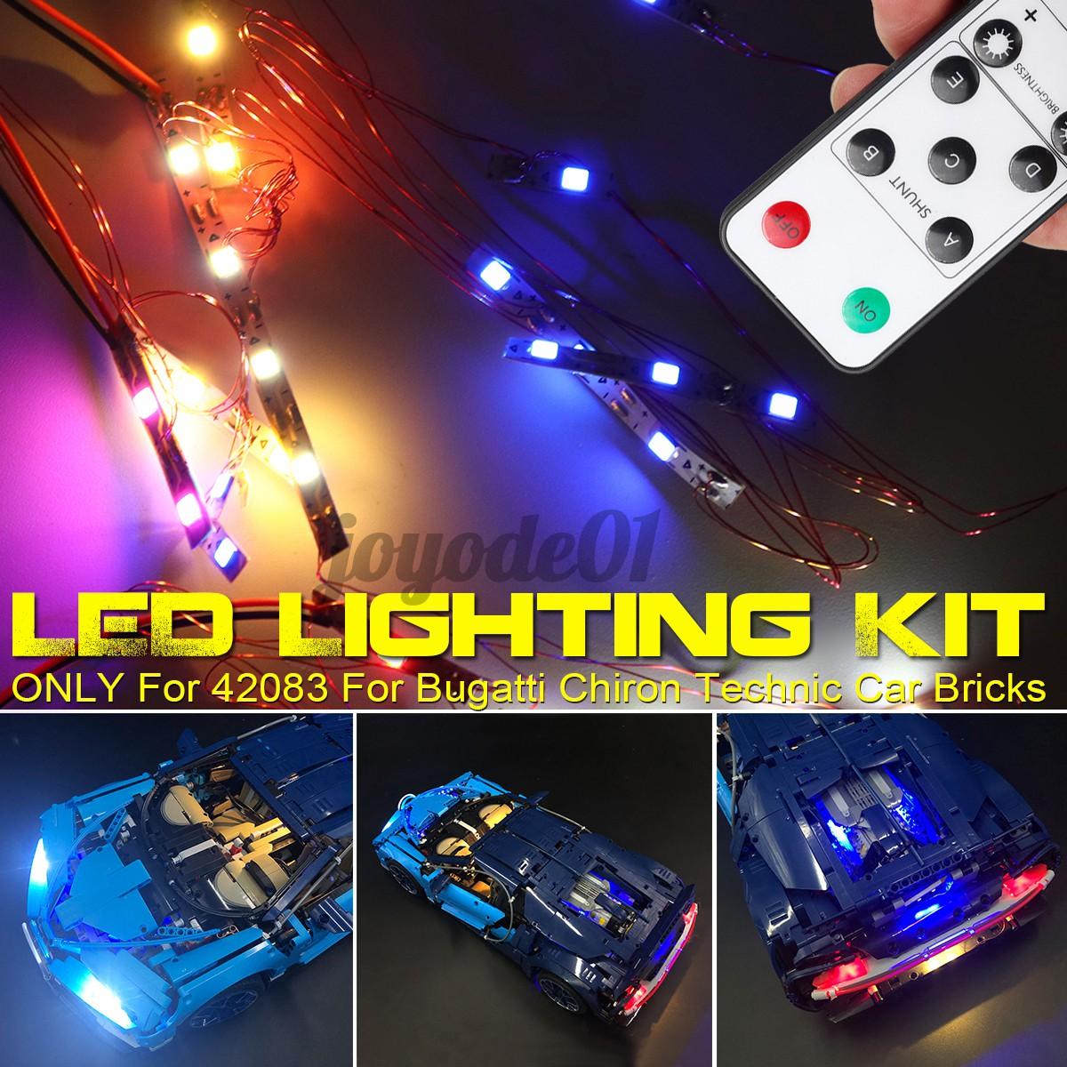 Kit De Luz Led So Controle Remoto Para Lego 42083 Bugatti Chiron Technic Shopee Brasil