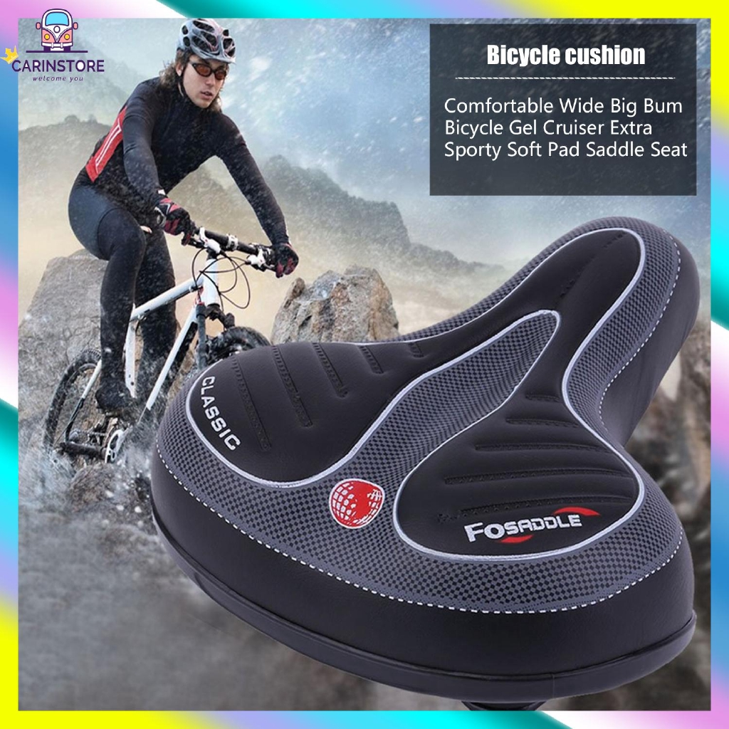 Bicicleta Bike Ciclismo 1P Extra Conforto Silicone Capa de assento Sela Pad Almofada De Gel