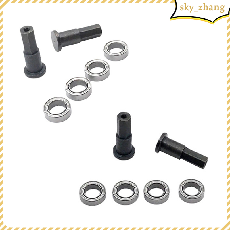 RC Metal Front Wheel Axle with Bearing for WPL D12 Buggy Car Replacements