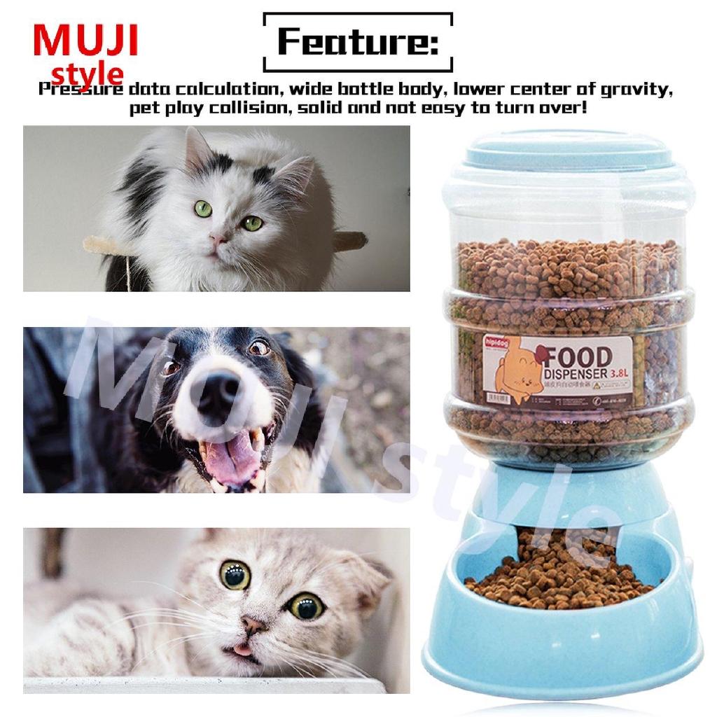 3 8l Automatic Drinking Fountain Food Dispenser Storage Feeder Dog Supplies Shopee Brasil