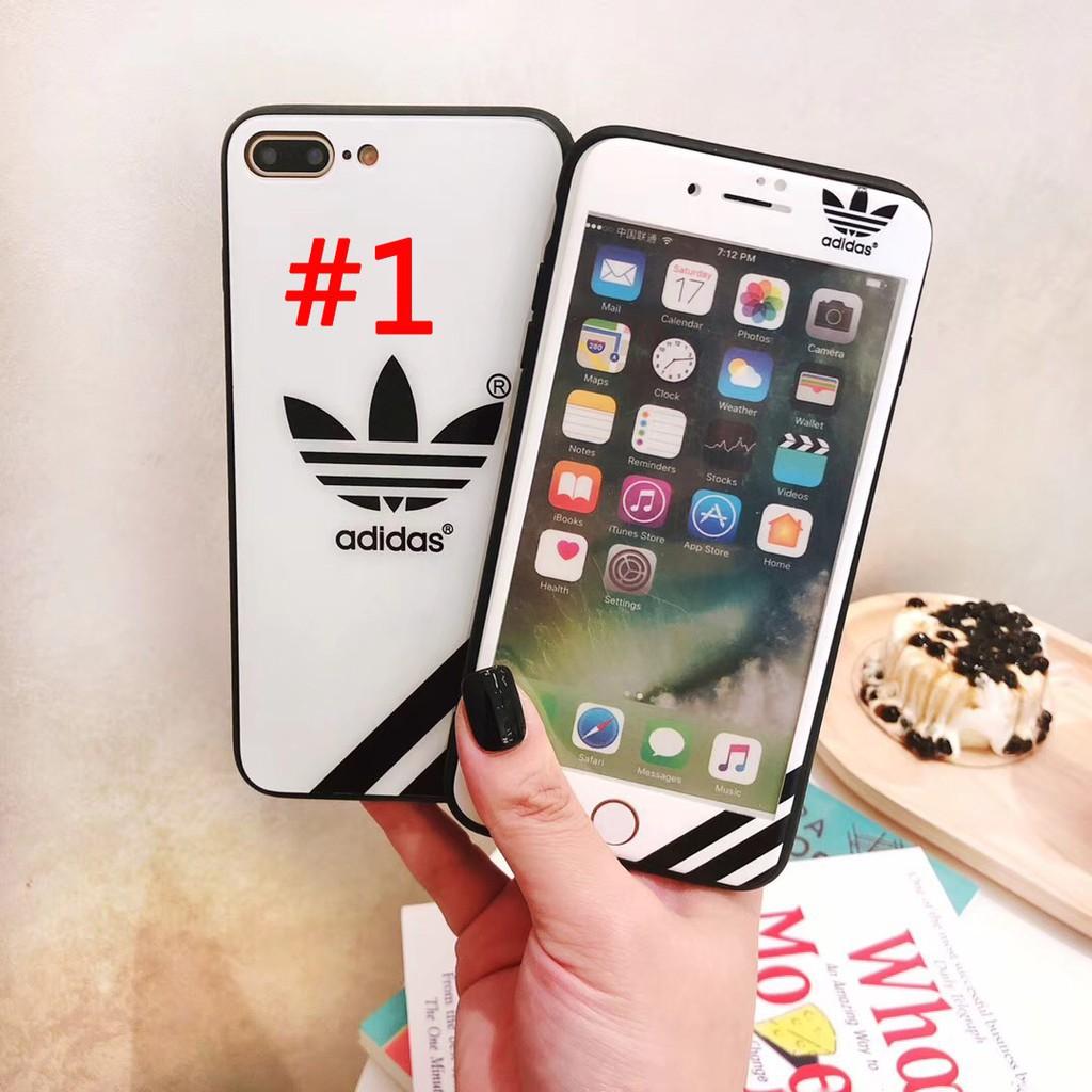 Catastrófico Dificil Velocidad supersónica  Capa de vidro Adidas e Nike Capa de telefone para iPhone / X / 6/7/8 / plus  XR Xs Max mais película frontal | Shopee Brasil