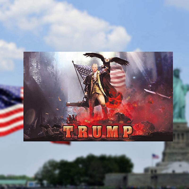 Donald Trump Flag FREE SHIPPING BAZOOKA 3x5 Foot Digital Print Banner New Flags