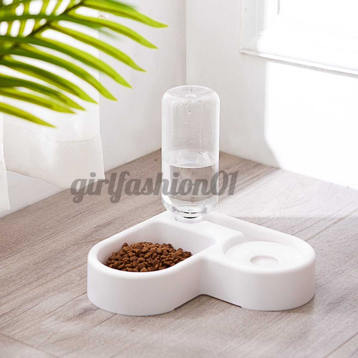 Automatic Pet Dog Cat Drink Water Dispenser Feeder Food 2 Bowl Dish Room Corner Space Saving For Pets Health Foods Clean Shopee Brasil