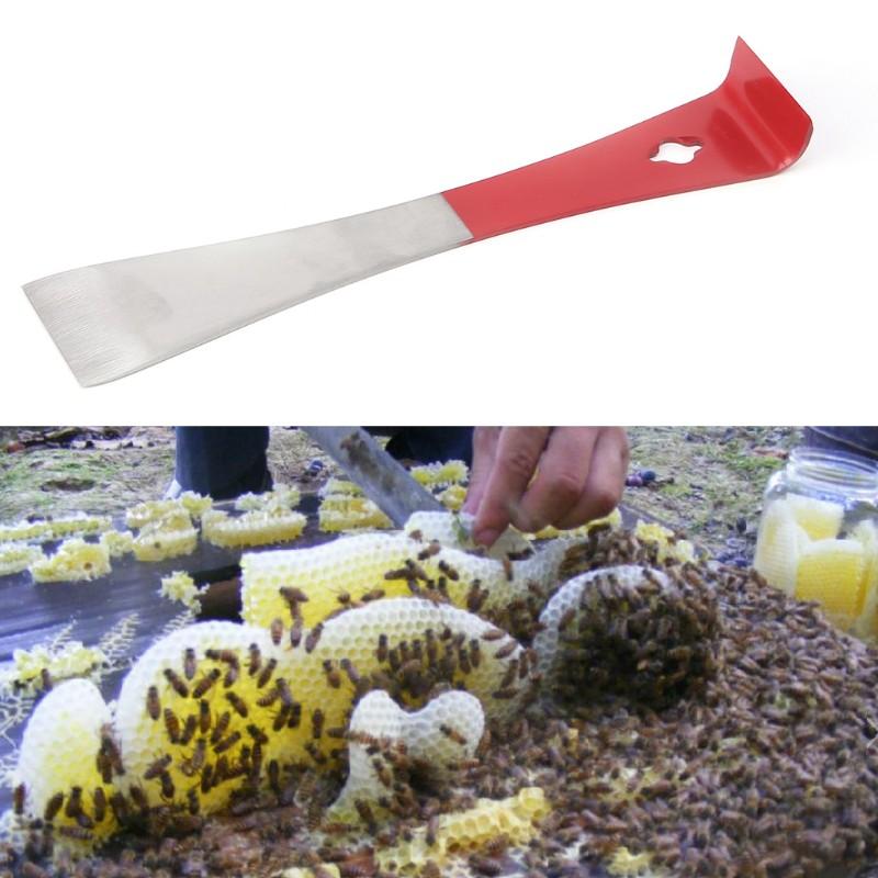 Beekeeping Tool Curved Tail Bee Hive Hook Scraper Stainless Steel Q