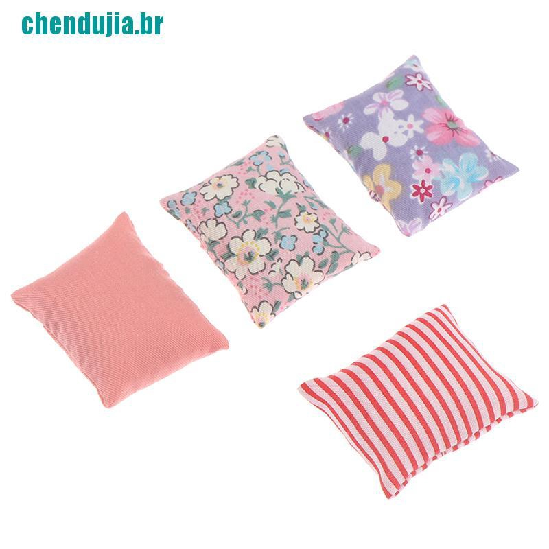 Casa De Bonecas 1//12th Conjunto De 6 travesseiros//Almofadas correspondentes