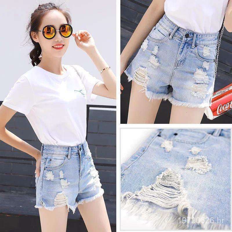 slimming jean shorts