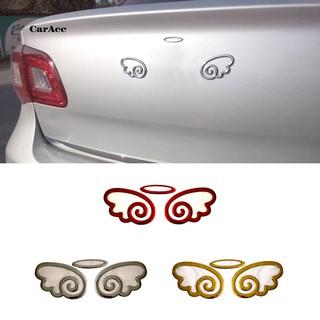 Set Red AMG Turbo Logo Car Sticker Fender Side Marker Emblem Badge Decorations