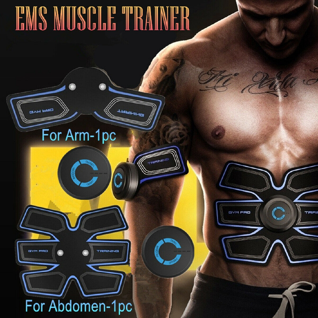 EMS Remote Control Abdominal Muscle Trainer Smart Body Building Fitness Abs Thin