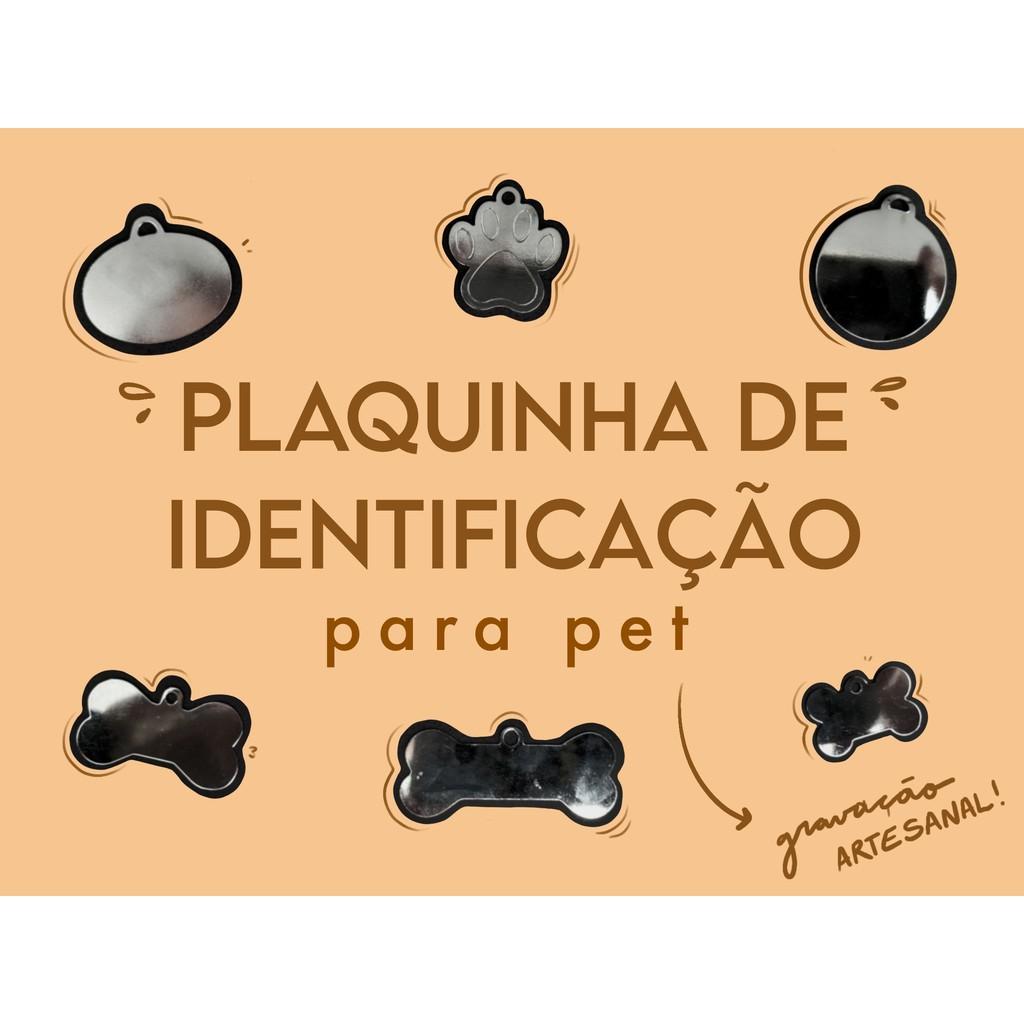 Placa De Identificação Para Pet, Cachorros E Gatos - Com Gravação Shopee Brasil