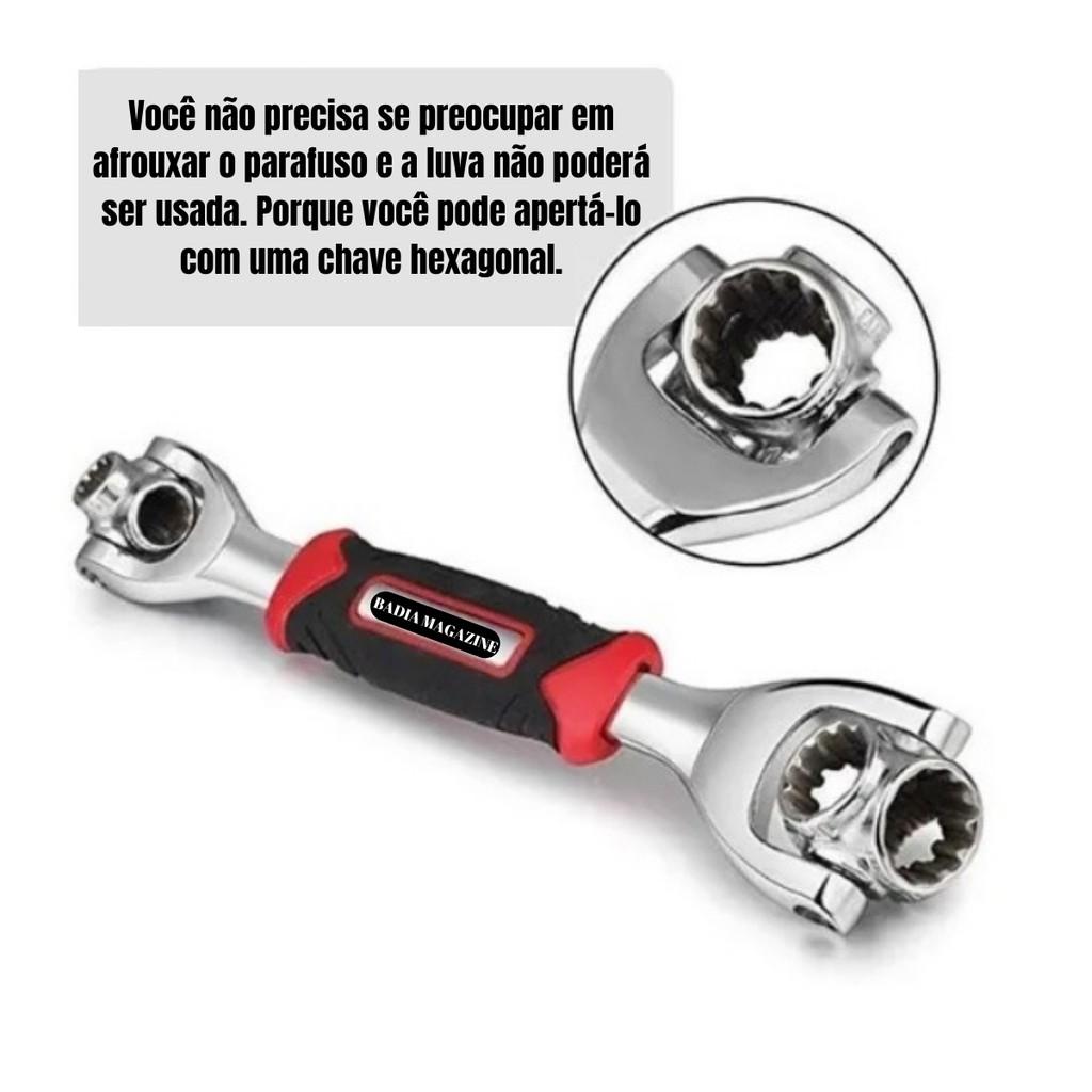 Chave Multifuncional Chave Mágica Ajustável Multi-Função 48 Em 1   Shopee Brasil
