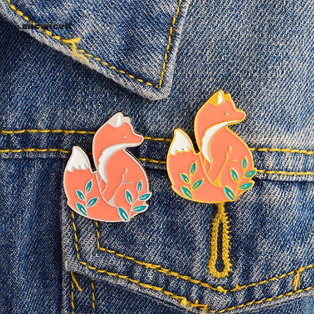 Mic Cute Pin Broche De Raposa Dos Desenhos Animados Unisex Animal Emblema Joias Presente Do Dia Dos Namorados Shopee Brasil