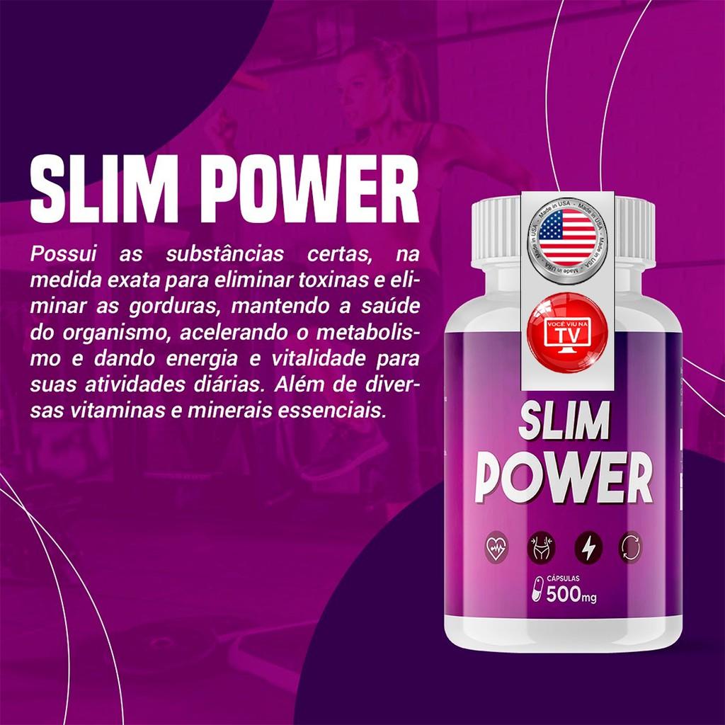 Slim Power 120 Cápsulas 500mg - 100% Natural - Acelera o..