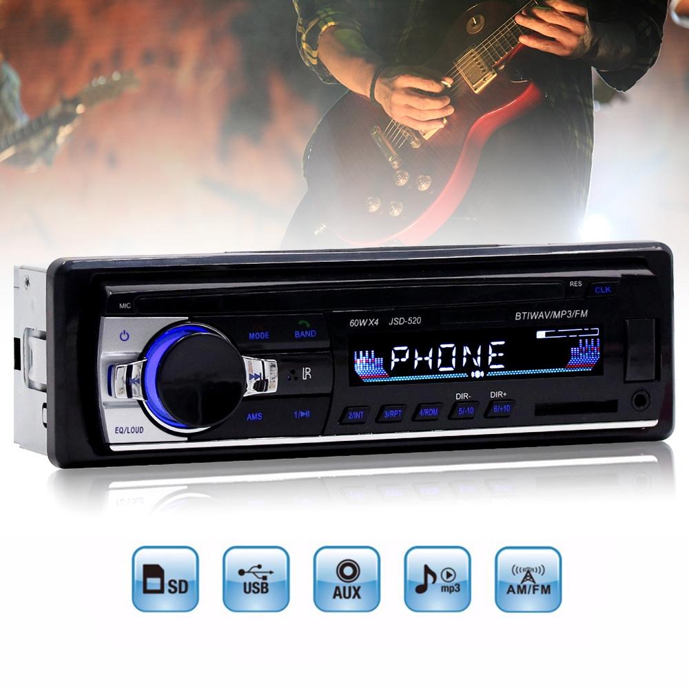Remote Car bluetooth Radio Audio Stereo Head Unit Player MP3//USB//SD//AUX-IN//FM