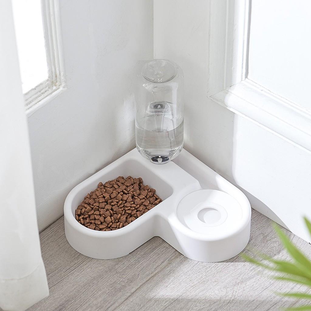 Sinostore Automatic Pet Dog Cat Drink Water Dispenser Feeder Food 2 Bowl Dish Room Corner Space Saving For Mother Gift Shopee Brasil