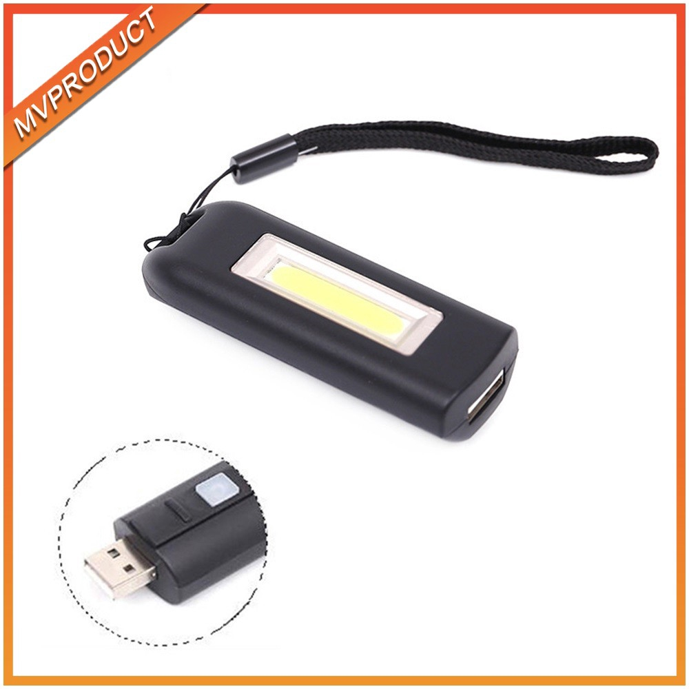 Portable Keychain Handy Flashlight Mini COB LED Handy Light Lamp Camping M0A0