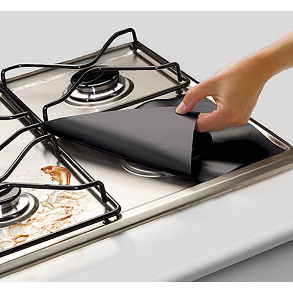 2 PCS Protetor de Fogão a Gás de Fibra de Vidro Tampa Reutilizável Protetor  de Fogão de Cozinha | Shopee Brasil