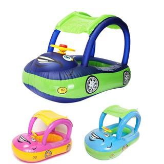 Bebê Crianças Flutuador Natação Anel Carro Volante Crianças Brinquedo Piscina Barco de assento
