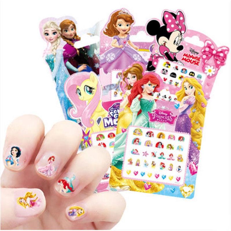 As Meninas Frozen Elsa E Anna Maquiagem Brinquedos Adesivos De Unha Disney Princesa Branca De Neve